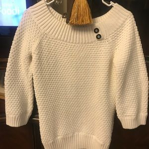 White house black market, size M white sweater top